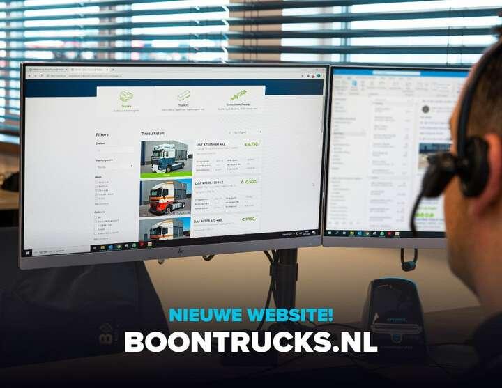 Nieuw online: www.boontrucks.nl! 🎉🚛 We ontwikkelden een koppeling met @trucksnl_official, zodat de actuele stock automatisch synchroniseert met de website. #truckdata #trailers #trucks. Succes Boon Trucks & Trailers!